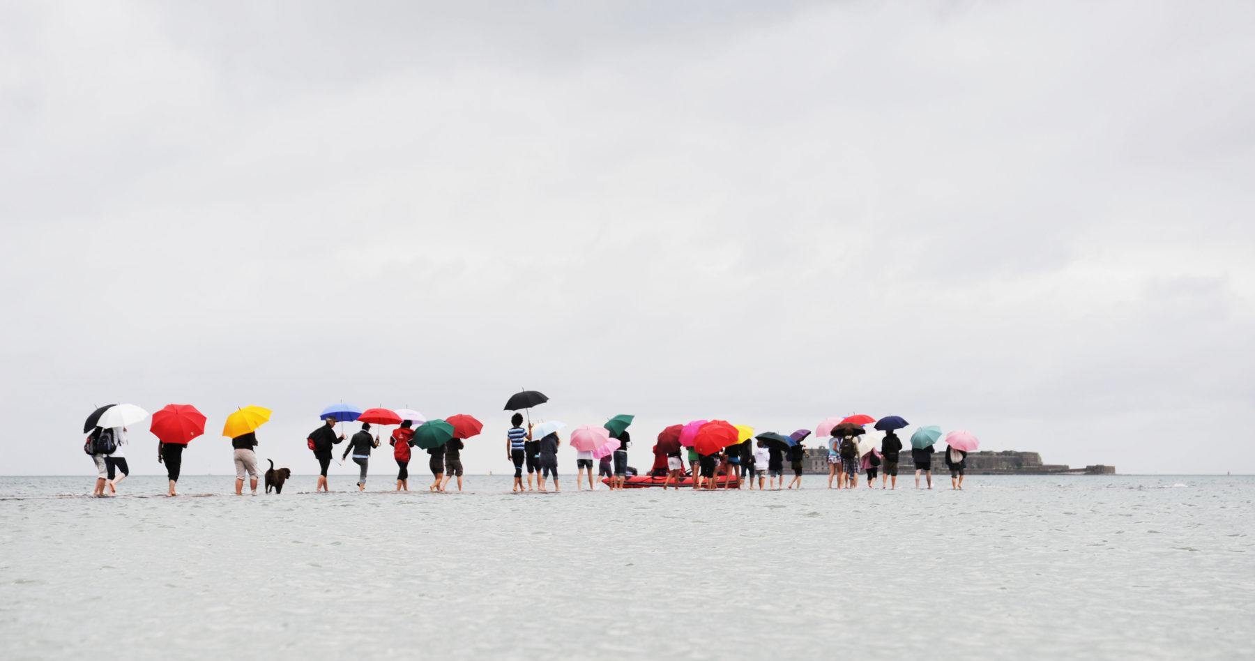 Les parapluies de cherbourg à la mer