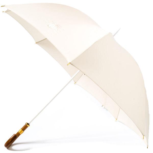 Le-Veritable-Cherbourg-Parapluie-mariage-ouvert-poignee-jonc-ecru