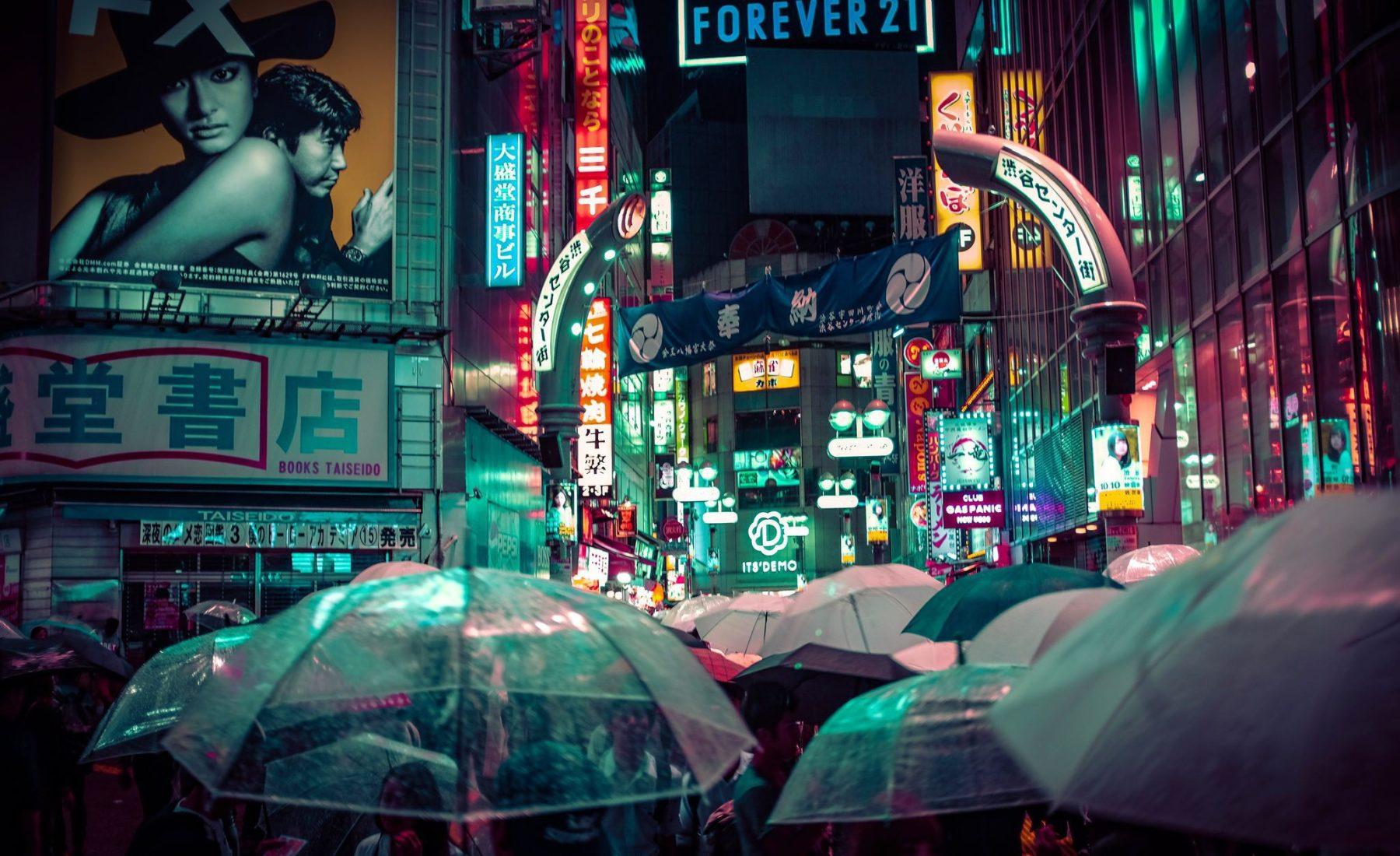 usage du parapluie en asie