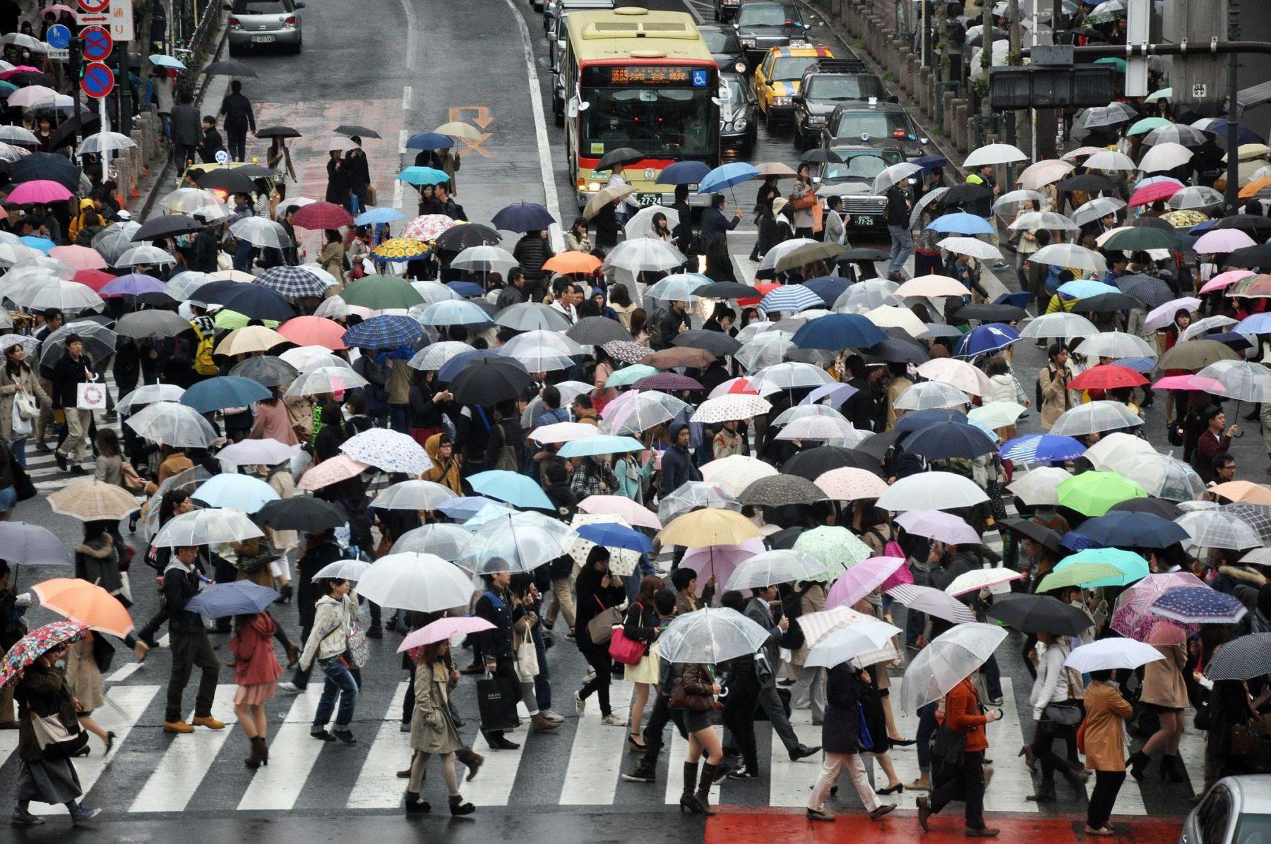 usage du paraplue en asie